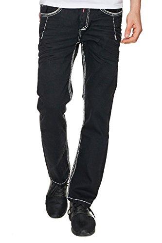 Rusty Neal Jeans Herren Hose Japan Style Clubwear Vintage Verwaschen Fit Used, Modell:8323-37;Hosengröße:W34/L32
