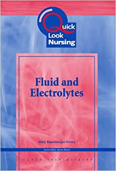 Book Quick Look Nursing: Fluids and Electrolytes