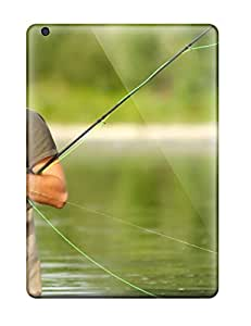 Ideal Alvadge Case Cover For Ipad Air(a Fisherman Fly Fishing), Protective Stylish Case