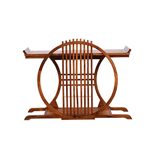 The World Mahogany Furniture Rosewood Flower Rack Chinese Piano Table Solid Wood Pot Rack Multi-Layer Shelf Qintai