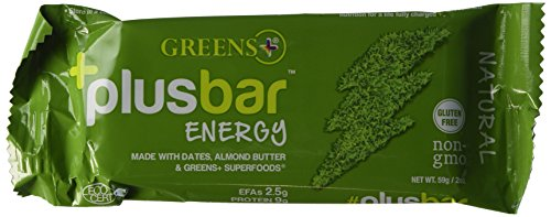 (Plusbar Energy Natural Box Greens+ (Orange Peel Enterprises) 12 Bars Box)