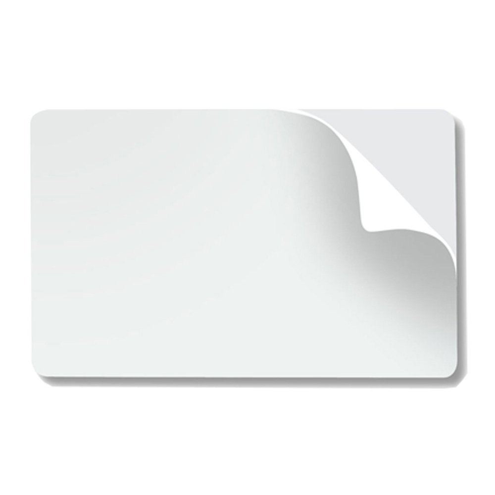 badgeDesigner Premium CR80 10 Mil Mylar Adhesive Backed PVC Cards - 500 Pack