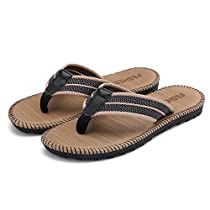 FLY HAWK Mens Boys Flip Flops Thongs Comfy Summer Sandals for Beach/Pool Outdoor Slippers Shoes
