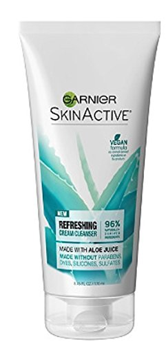 GARNIER SkinActive Refreshing Cream Face Wash with Aloe 5.75