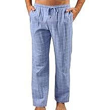 Naked Mens Essential Double Gauze Cotton Pant Pajama Bottoms