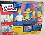 2003 Playmates the Simpsons World of Springfield Interactive Environment the Original Simpsons Now & Then with 5 Exclusive Figures Available Nowhere Else
