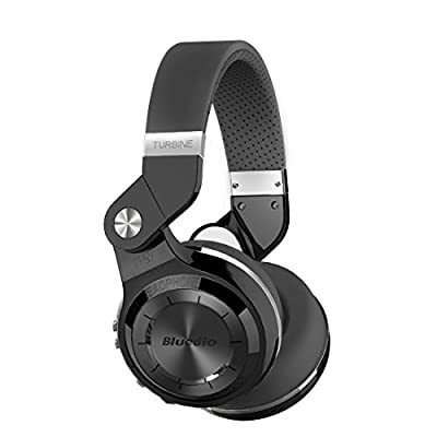 Bluedio T2s Turbine Bluetooth Wireless Stereo Headphones with Microphone, 57mm Drivers, 195° Rotary Folding