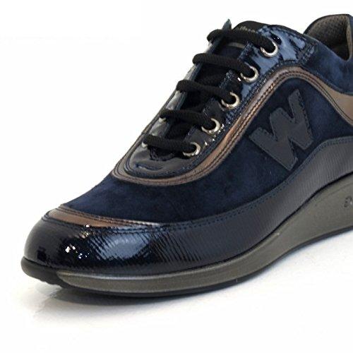 Vernice Walk Dark Per Camoscio Donna Sneaker R0024 Melluso In Blue E 4qa0pnwx