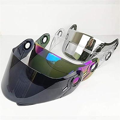 LS2 Helmets FF325 Strobe Visor Solid Modular Motorcycle Helmet Lens LS2 FF370 FF386 FF394 Replacement Face Shield (Chrome Silver): Automotive