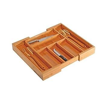 Bambus Küche Küchen Besteckkasten Besteckeinsatz Schubladeneinsatz  Schublade Variabler Ausziehbar