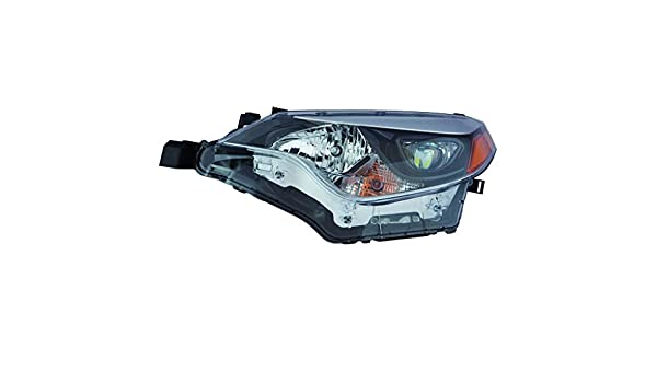 DRIVER LEFT SIDE HEADLIGHT FOR 2014-2016 TOYOTA COROLLA BULB SOCKETS INCLUDED