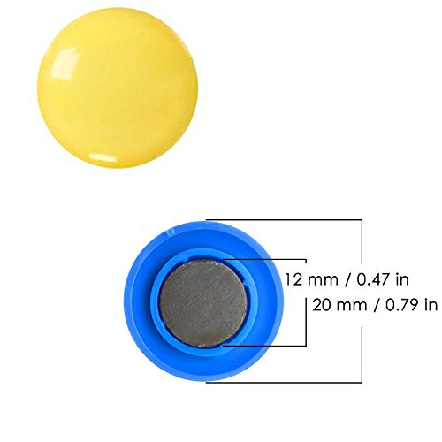 Tiberham Notice Board//Planning Magnets Refrigerator Whiteboard Magnets for School Office Home 4 Assorted Colors 80 Pack 20 mm Round Plastic Covered Magnetic Buttons