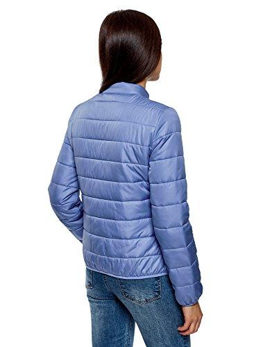 Azul 7500n Mao oodji Chaqueta Ultra Cuello Mujer Acolchada con OgpHxq4