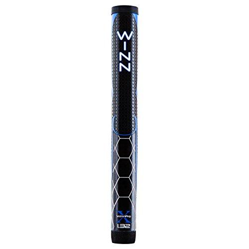 Winn Pro X Putter Grips, 1.32-Inch, Black/Blue