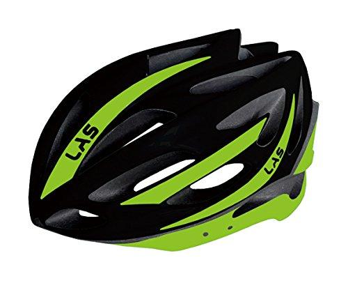 LAS(ラス)ヘルメットVICTORY BLACK/LIME L18LVIC487G   B0751K349D
