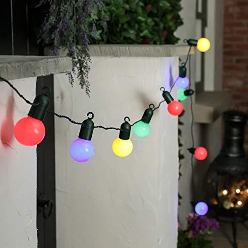 - EONLYX Bulb Ball String Lights, 15M 50LED Plastic Globe Fairy String Lights Battery Powered Bulb Outdoor Indoor Lights (Multicolor)