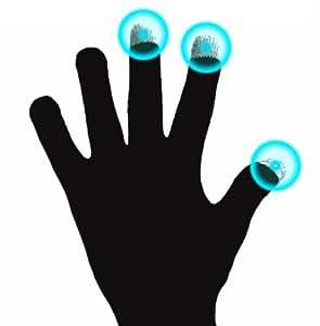 Guantes capacitivos para frío, talla M (medio) DURAGADGET-Lápiz digital para pantalla táctil de tableta infantil Ematic FunTab Ori FunTab Pro y Tablet