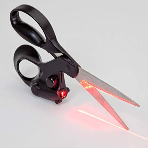 Easyinsmile Household Laser Scissors Gadget Cuts Fast Straight Professional Straight ()