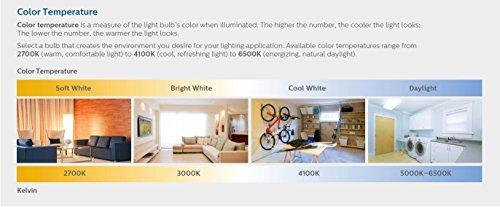 Philips LED Flood Light 4 Pack 65 Watt Equivalent Daylight 5000K BR30 Dimmable Medium Screw Base