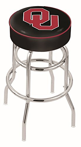 Holland Bar Stool L7C1 Oklahoma University Swivel Counter Stool, 25
