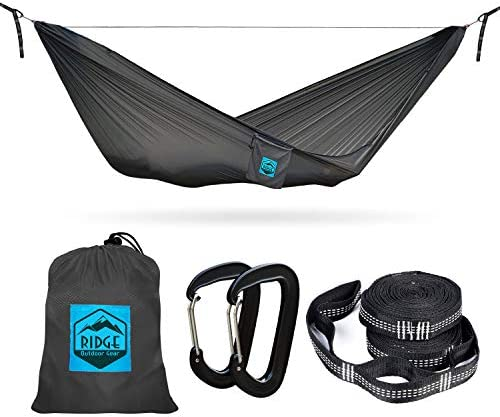 Lay-Flat Halfmoon 11 ft Hammock with Structural Ridgeline for Camping Sleeping Ultralight for Backpacking Hiking