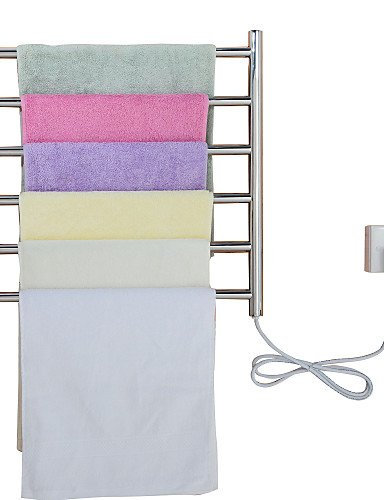 LI Stainless Steel Electric Heated Towel Rack, Heating Towel Rail, Electric Radiator Towel Warmer , 110-120v Lina-bathroom accessories