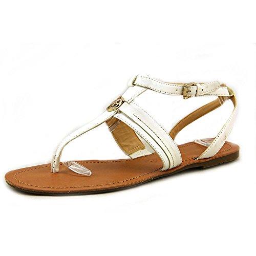 Tommy Hilfiger Women's Lorine Sandal (White, 6.5)