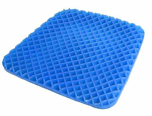 Mermaker Gel Seat Cushion Pad With Washable Cover Support Summer Cool Breathable Honeycomb Absorbs Pressure Points Office Chair Car