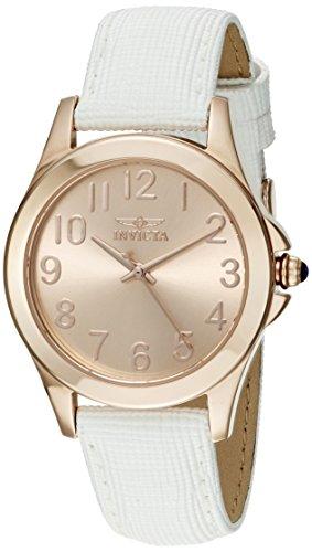 Invicta Women's 21374 Angel Analog Display Quartz White Watch