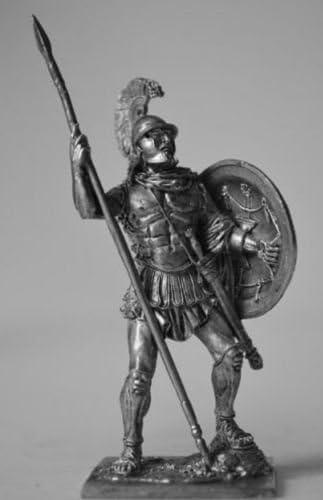 HISTORICAL TIN FIGURES GREECE SPARTAN HOPLITE WITH SPEAR 5 CENTURY BC 75MM FI13