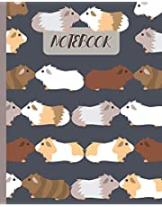 """Notebook: Cute Guinea Pigs Kissing - Lined Notebook, Diary, Track, Log & Journal - Gift Idea for Boys Girls Teens Men Women (8""""x10"""" 120 Pages)"""