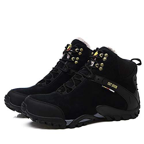 Plus opcional Convencional Escalada top Antideslizantes Libre Fleece Dentro De Aire Para Cómodos Black Botines Zapatos High Los Warm Al Faux Hombre xO1UIqX