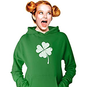 St Patricks Day Hoodie for Women Lucky Charm Clover Women's Sweatshirt
