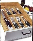 Lipper International 377 Beechwood Flatware Tray