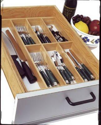 Lipper International 377 Beechwood Flatware Tray by Lipper International