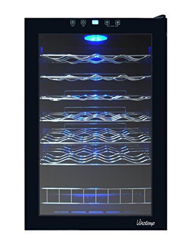 Vinotemp 6 Bottle - Vinotemp 48-Bottle Touch Screen Wine Cooler