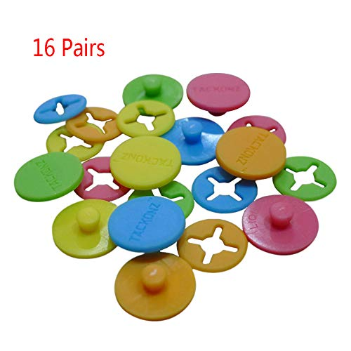 Whale GoGo 16 Pcs Running Bib Clips Fixing System Race Number Fasteners/Holders, Random Color 2 Mm Race Screen