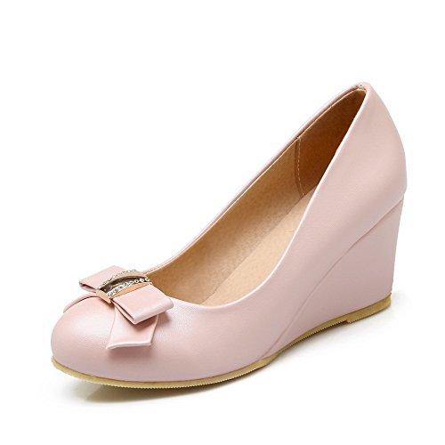 Pumppuja Suljetun Kierroksella Weipoot Pinkki Vedä Solid Toe Naisten Korkokengät kengät nqwnxFaOH