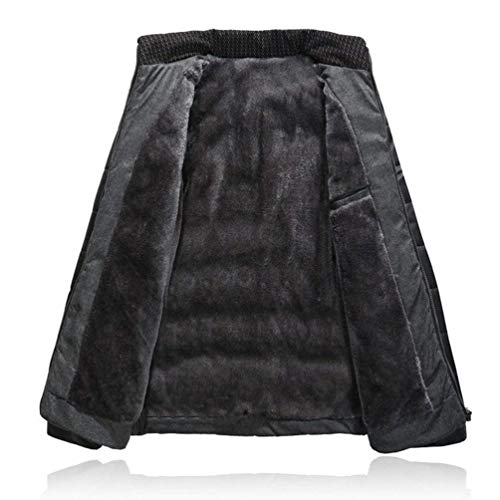 Windproof Middle Old Quilted Velvet Schwarz Im Jacket Winter Thicken Brands Down Men's Lining Warm Collar BOLAWOO Leisure Padded Fashion Stand Coat Cotton UqgB5xtn