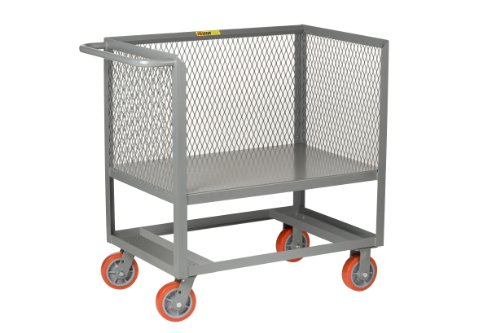Little-Giant-RP3X-2436-6PY-3-Sided-Raised-Platform-Bulk-Handling-Box-Truck-with-34-Expanded-Metal-Sides-2000-lbs-Capacity-36-Length-x-24-Width