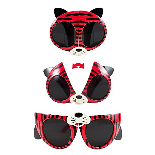 Folding kids sunglasses (red and white, - Kids Sunglasses Promotional
