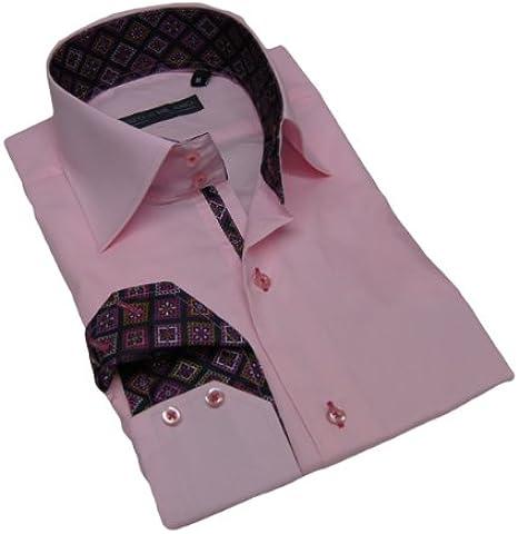 Enzo Di Milano Camisa Alexo Fashion Color Rosa rosa: Amazon.es: Ropa y accesorios