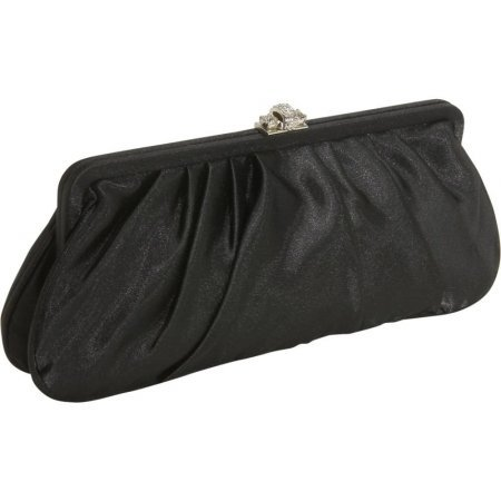 Furmani Satin Clutch (J Furmani JF20290-BK Large Satin Clutch Bag - Black)