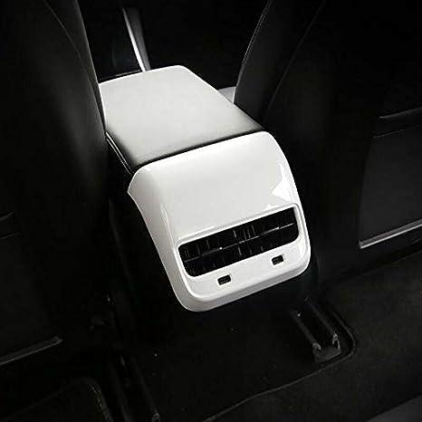 For Tesla Model 3 Y Car Carbon Fiber ABS Rear Air Vent Outlet Cover Trim Air Out