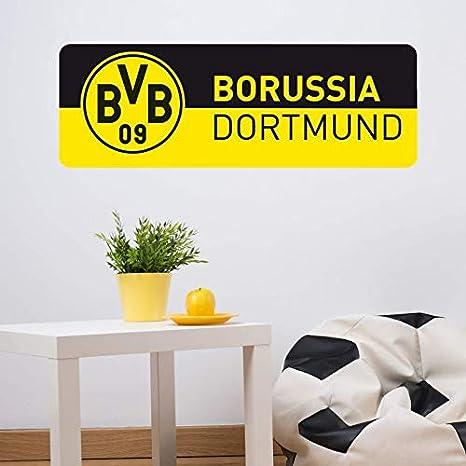 Wandtattoo Bvb 09 Schriftzug Banner Schwarz Gelb Dortmund