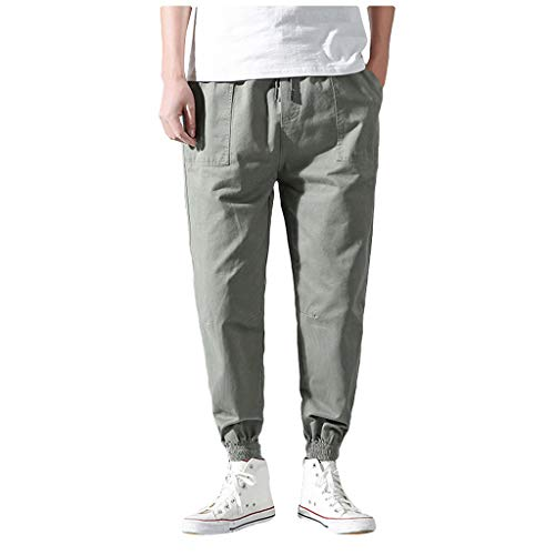 TIFENNY Summer Pants for Men Casual Loose Pure