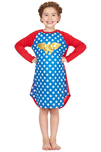 Wonder Woman DC Comics Logo' Ragalan Pajama Nightgown, Blue, 18/20 ()