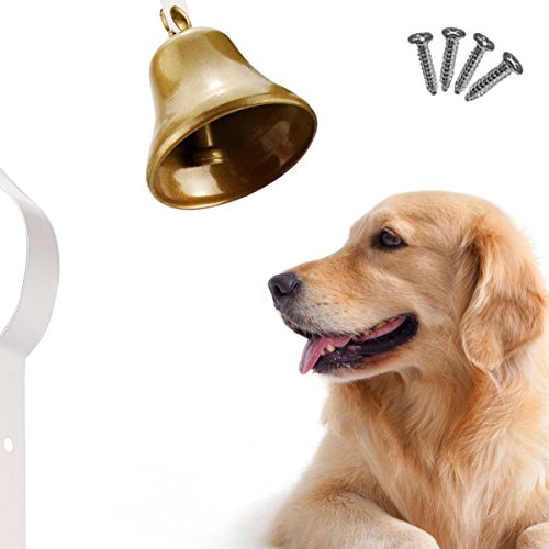 Comsmart Tinkle Dog Bell Pet Door Bell Hanging Brass Doorbell For