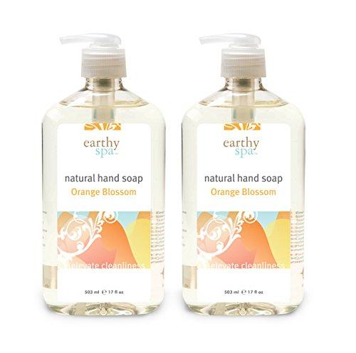 earthy spa Natural Hand Soap, Orange Blossom, 17 Fl. Oz -