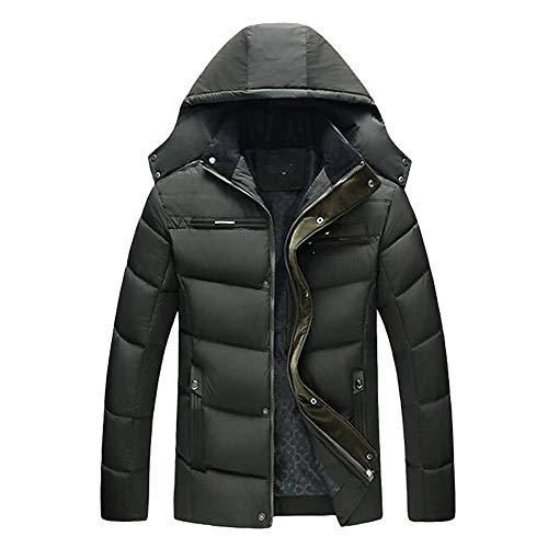 Big Promotion ! Warm Jacket, Men's Casual Hooded Winter Thick Coat Overcoat Big and Tall by Allywit (Image #2)